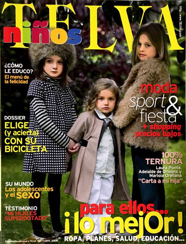 TELVA NINOS Kids Children Bambini Enfant SPANISH Fashion Magazine OCTOBER 2008