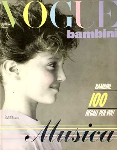 VOGUE ITALIA BAMBINI Kids Children Enfant Fashion RARE Magazine Winter 1981 #37