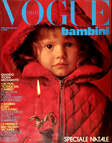 VOGUE ITALIA BAMBINI Kids Children Enfant Fashion RARE Magazine Winter 1976 #9