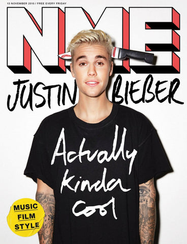 NME Magazine November 2015 JUSTIN BIEBER Fetty Wap