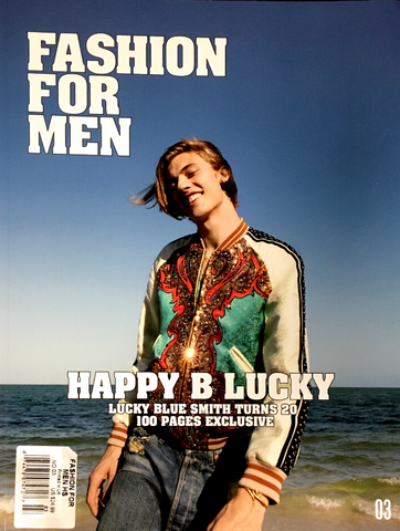 FASHION FOR MEN #3 Magazine Summer Fall 2018 LUCKY BLUE SMITH