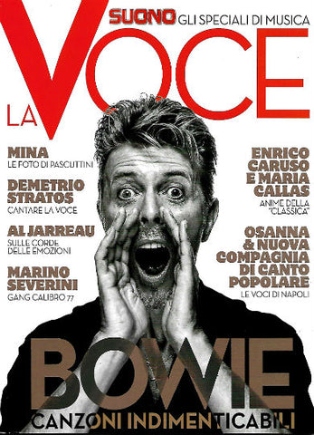 LA VOCE Magazine August 2017 DAVID BOWIE Mina MARIA CALLAS Joe Bonamassa