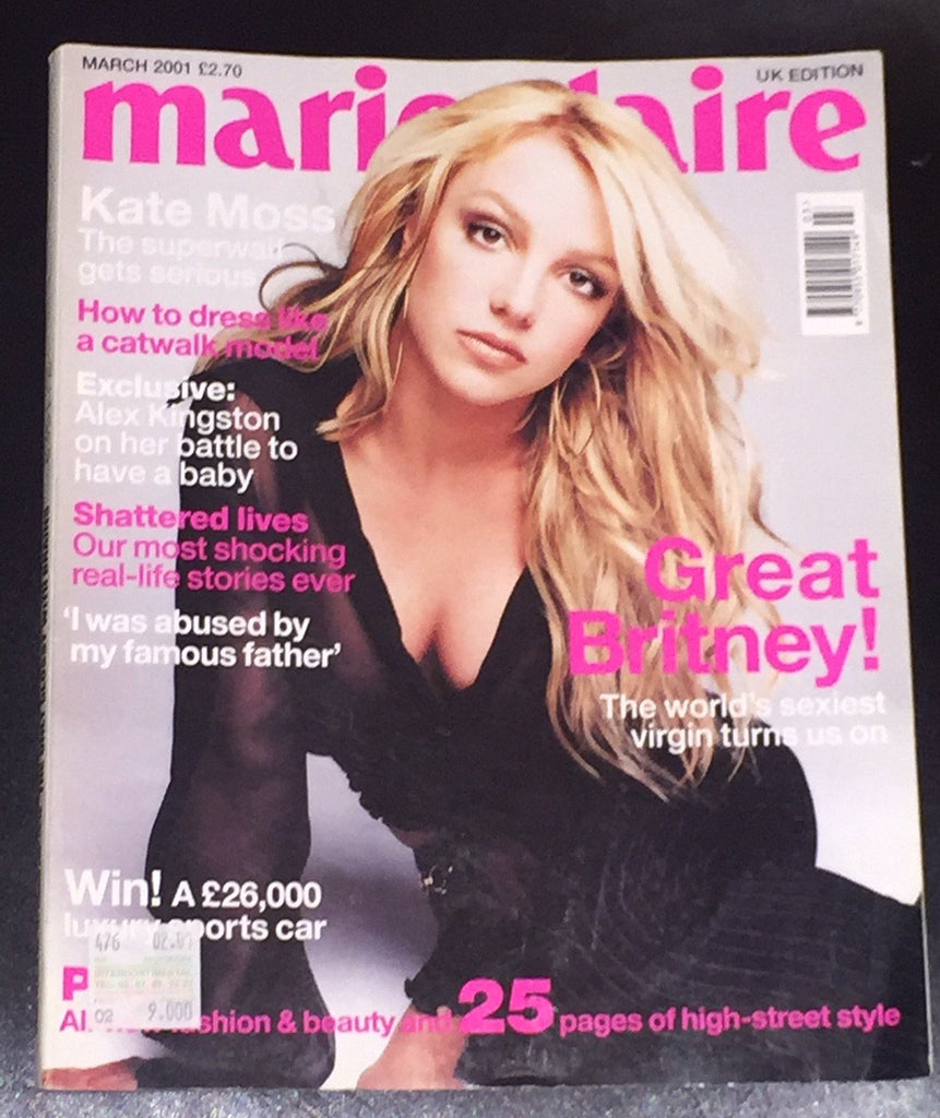 Marie Claire Uk magazine 2001 BRITNEY SPEARS Lisa Ratliffe ALEX KINGSTON - magazinecult