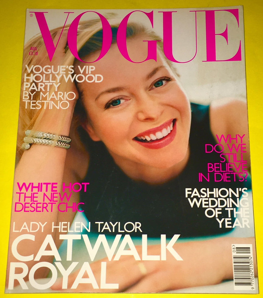 VOGUE UK Magazine August 2000 HELEN TAYLOR Maggie Rizer CARMEN KASS