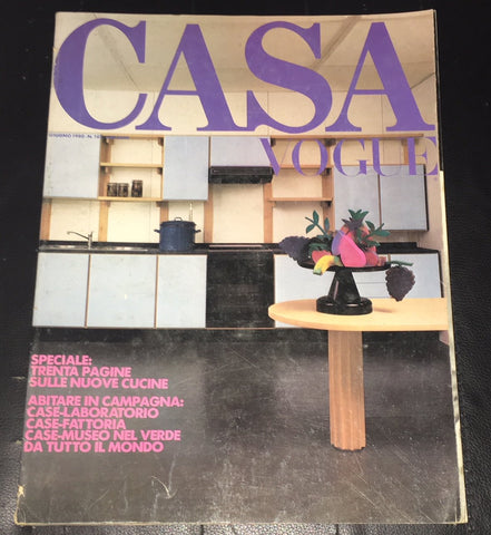 CASA VOGUE Magazine Italy June 1980 Issue 107 Vintage