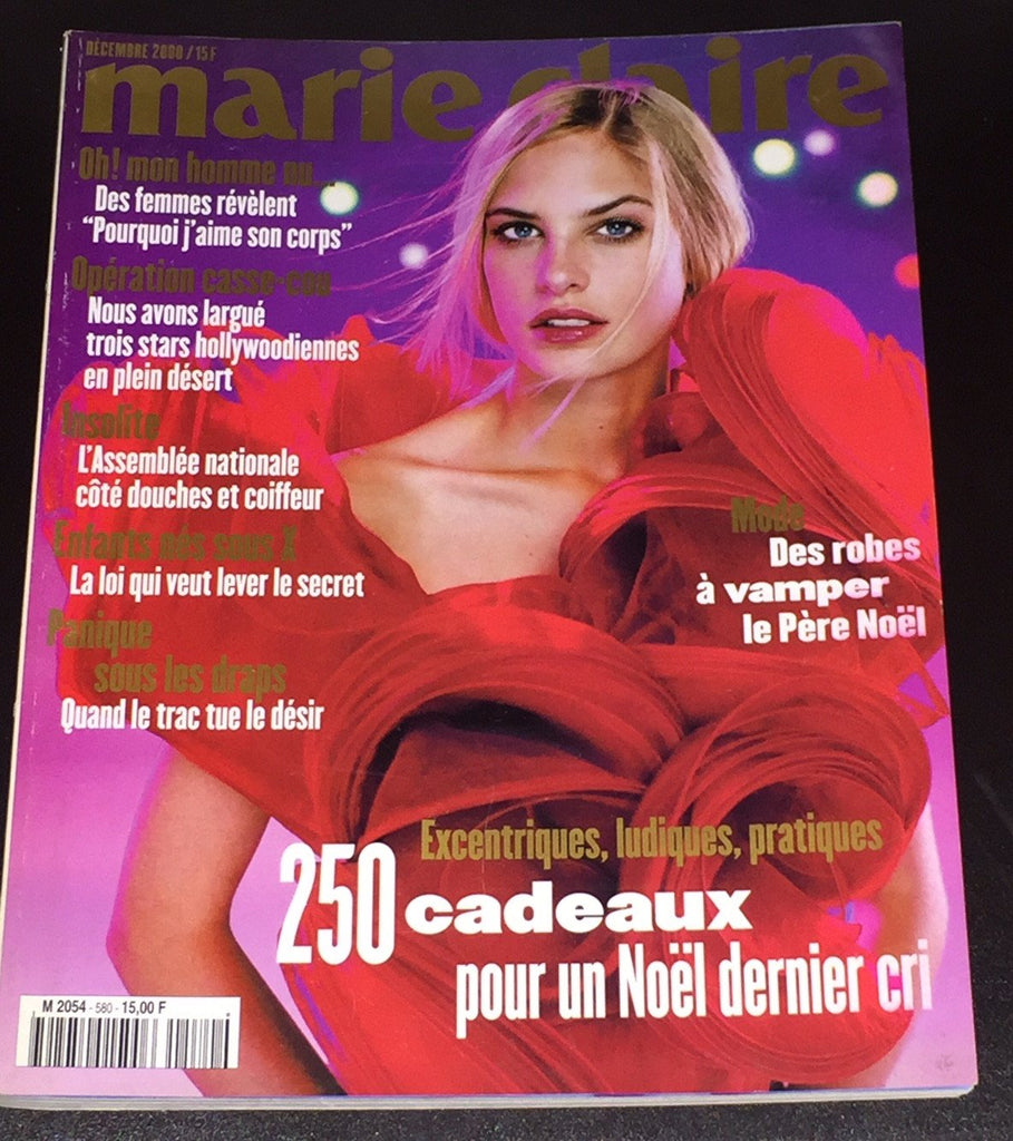 MARIE CLAIRE France Magazine December 2000 JENNY KNIGHT