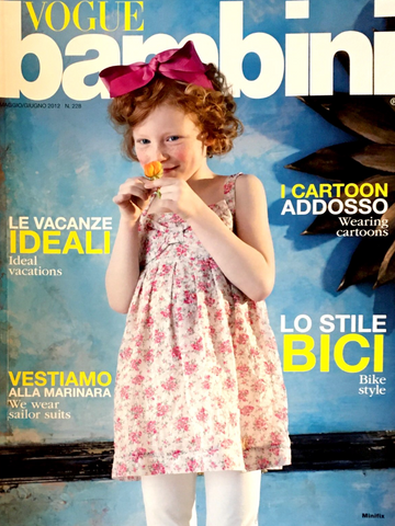 VOGUE BAMBINI Kids Children Enfant Fashion ITALIA Magazine May 2012