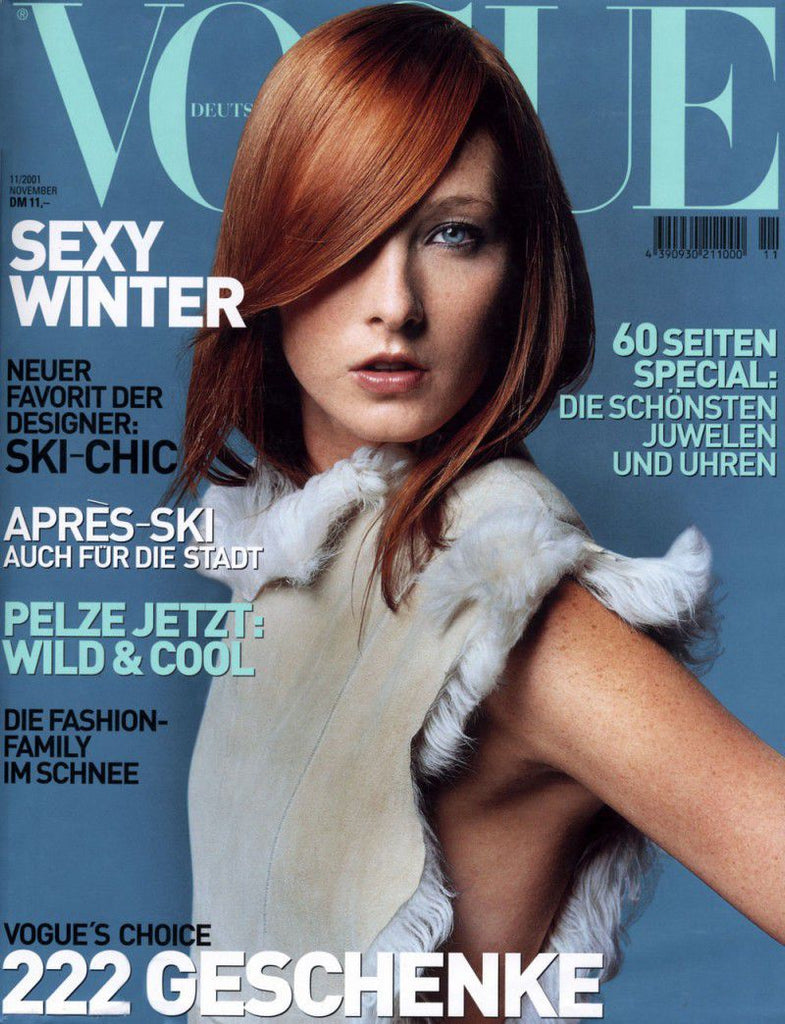 VOGUE Germany Magazine November 2001 MAGGIE RIZER Tasha Tilberg RAQUEL ZIMMERMANN