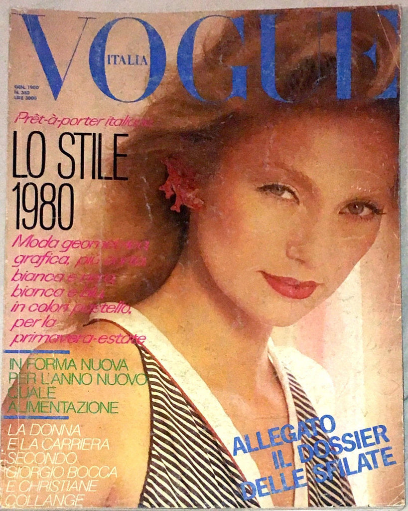 VOGUE Italia Magazine January 1980 ANNA ANDERSEN Kelly LeBrock LENA KANSBOD