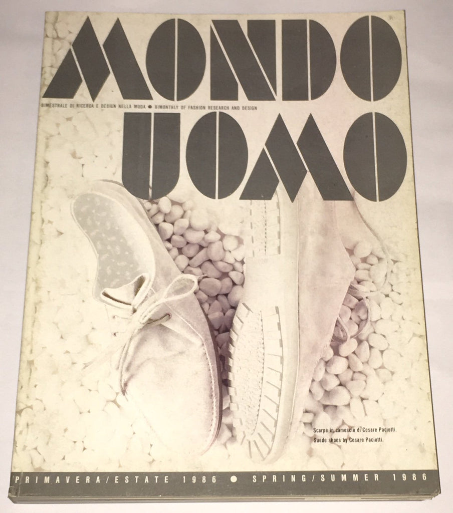 MONDO UOMO Italian Fashion Magazine March 1986 With English text