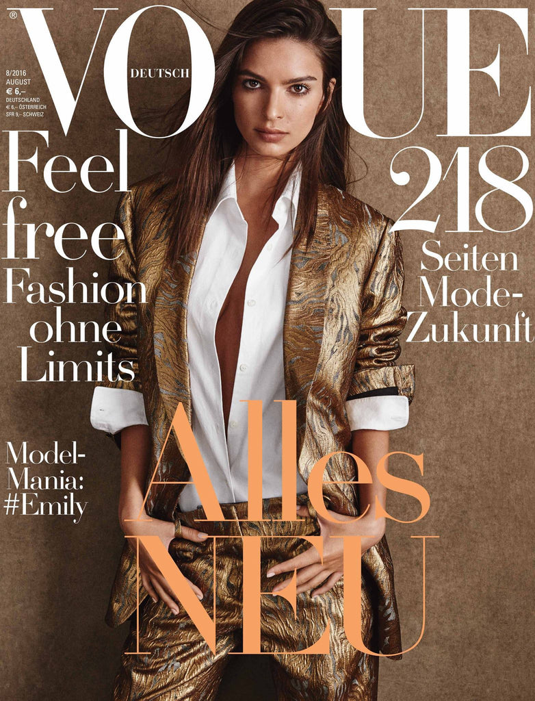 VOGUE Germany Magazine August 2016 EMILY RATAJKOWSKI Stella Maxwell LILY ALDRIDGE