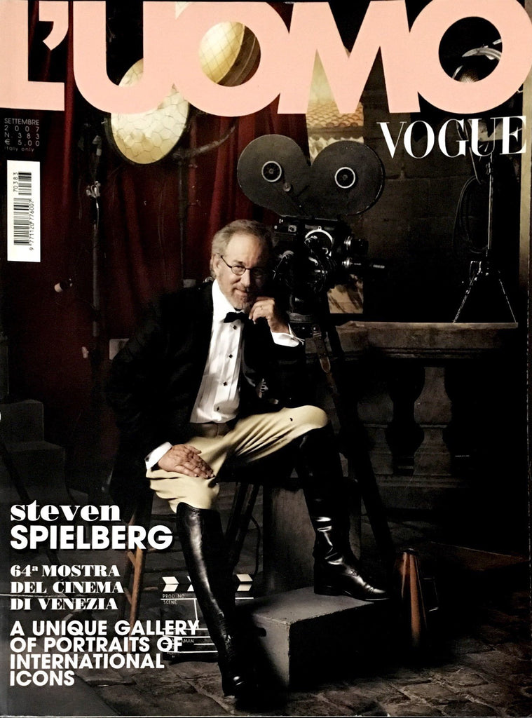 L'UOMO VOGUE Magazine September 2007 Spielberg DUSTIN HOFFMAN Tim Burton KEIRA KNIGHTLEY