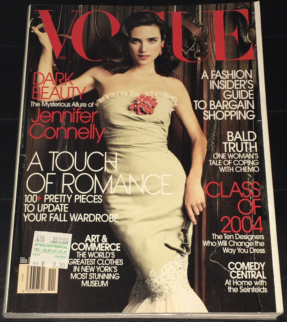 VOGUE US Magazine November 2004 JENNIFER CONNELLY Daria Werbowy NATALIA VODIANOVA