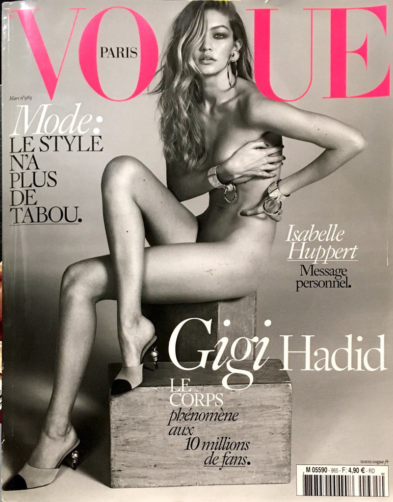 VOGUE Paris magazine March 2016 GIGI HADID Eva Herzigova IRINA SHAYK Valade