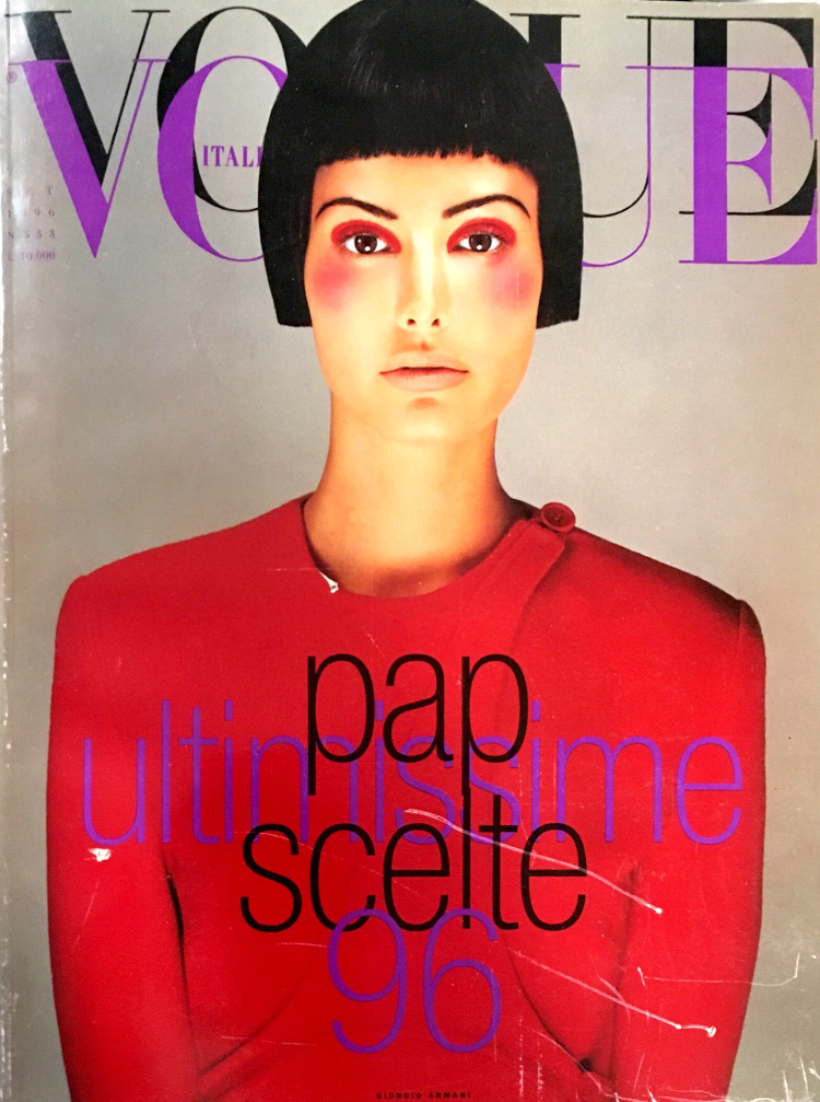 VOGUE Italia Magazine September 1996 ELSA BENITEZ Helmut Newton KYLIE BAX Cindy Crawford