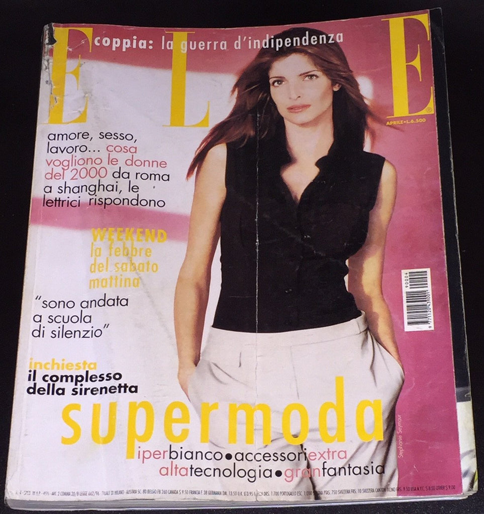ELLE Italia Magazine April 1999 STEPHANIE SEYMOUR Lucy Gordon HEATHER PAYNE Claire Durkin - magazinecult