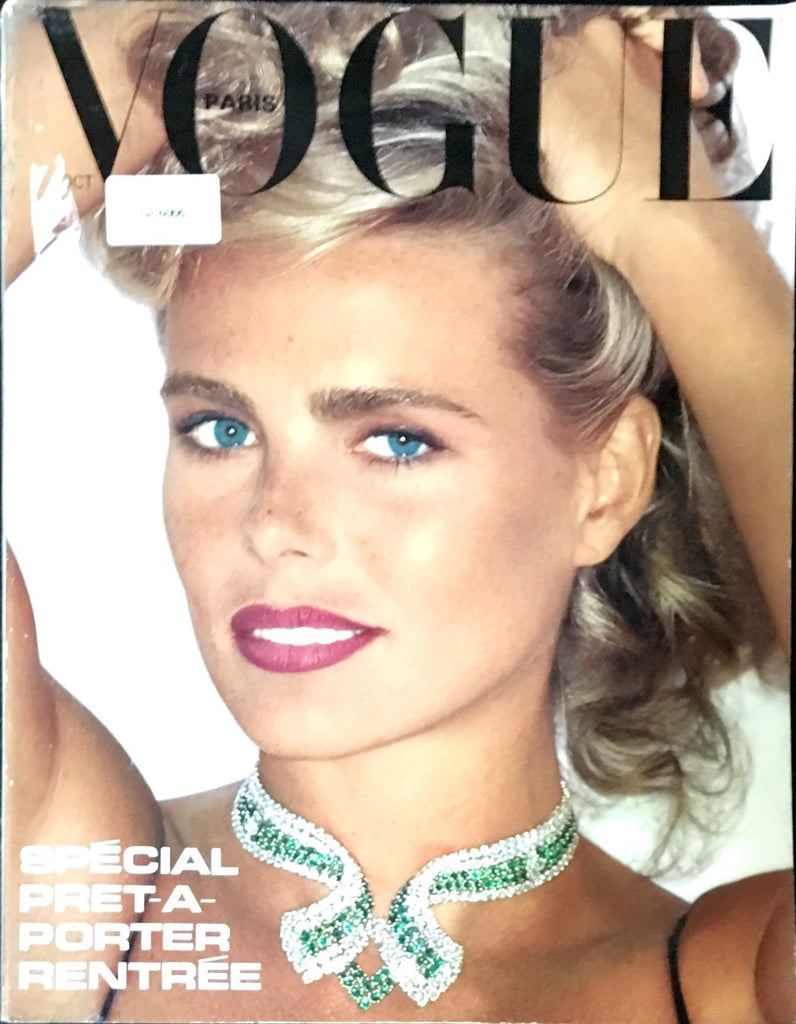 VOGUE Paris Magazine 1980 MARGAUX HEMINGWAY Helmut Newton NANCY DE WEIR