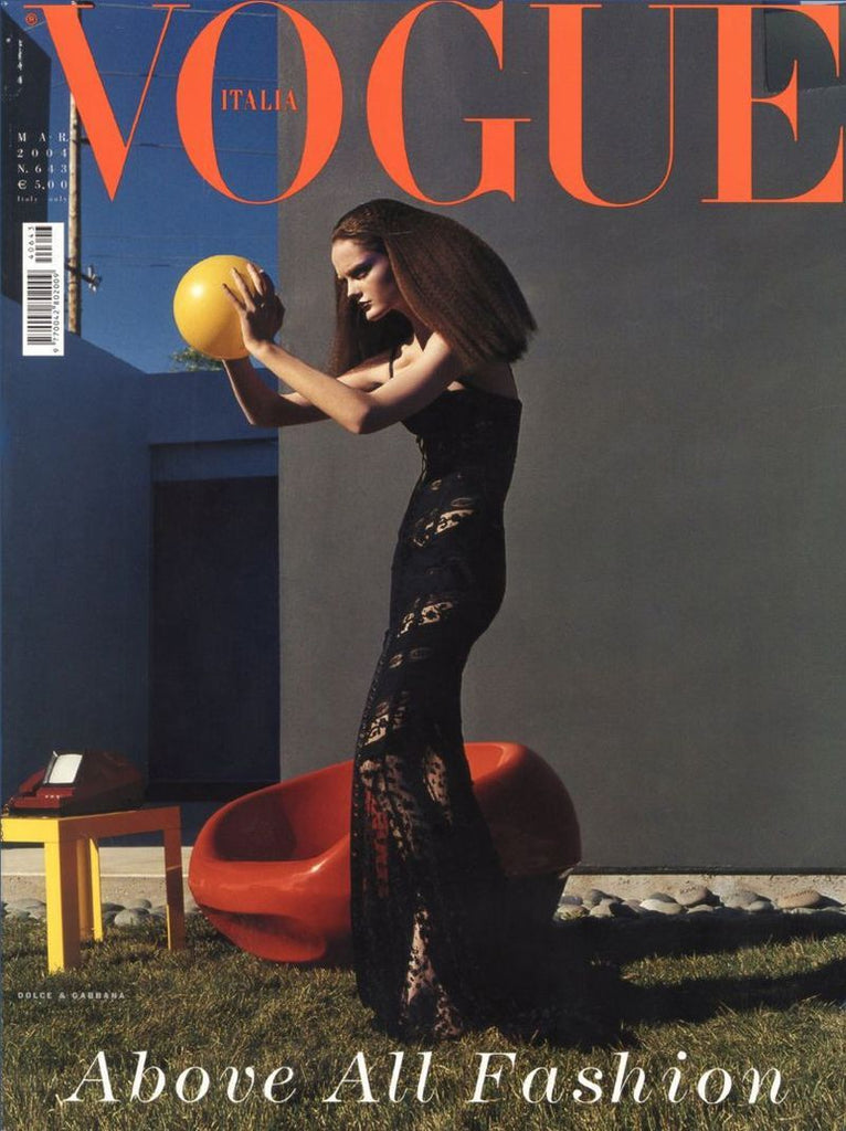 VOGUE Italia Magazine March 2004 LISA CANT Helmut Newton MARIACARLA BOSCONO Karen Elson