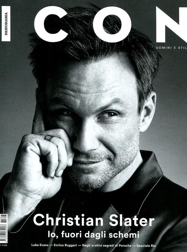 ICON Italian Magazine May 2016 CHRISTIAN SLATER Luke Evans BRAND NEW
