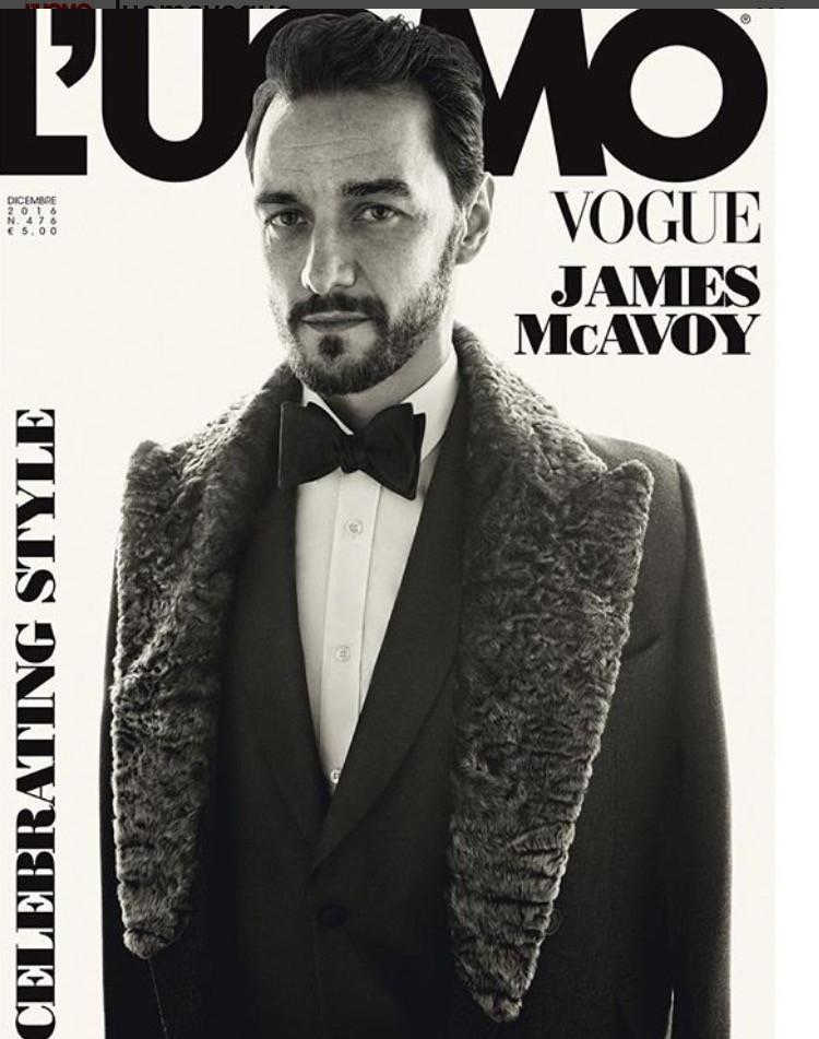 L'UOMO VOGUE Magazine December 2016 JAMES MCAVOY Saul Nanni MISHA LINDES