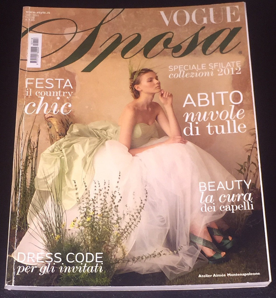 VOGUE Italia Magazine SPOSA Wedding BRIDE September 2011 Rare Magazine