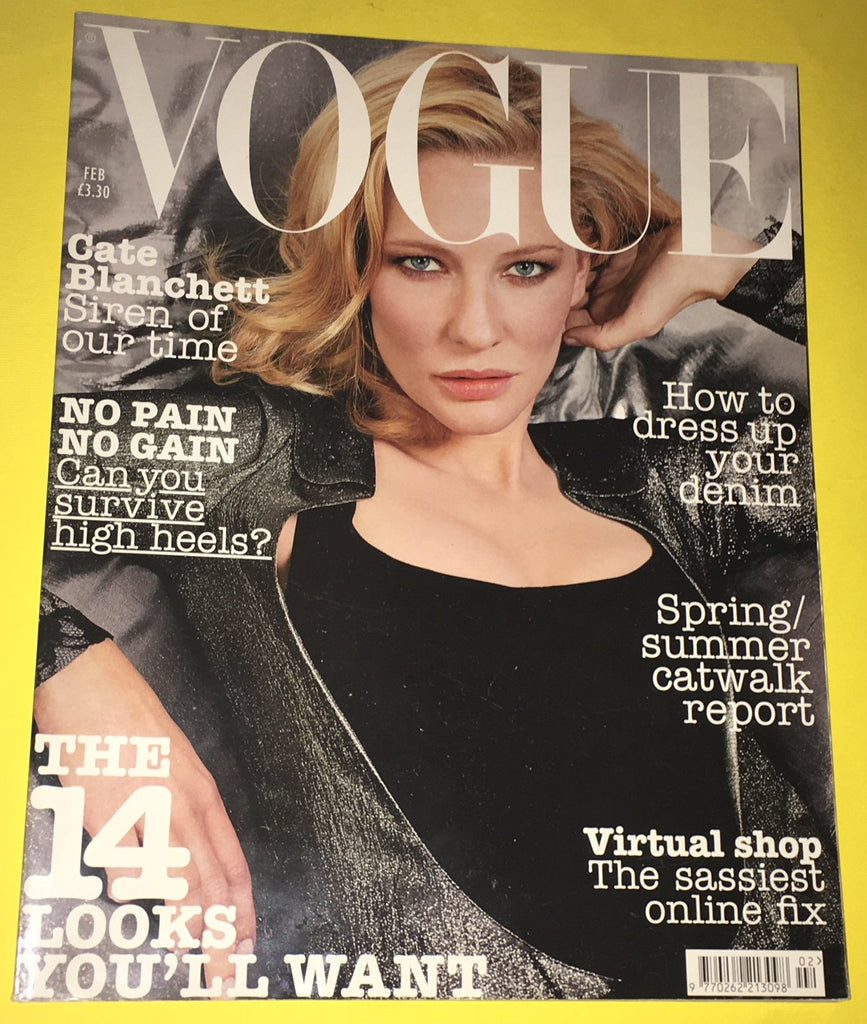 VOGUE UK Magazine February 2004 CATE BLANCHETT Daria Werbowy LIYA KEBEDE
