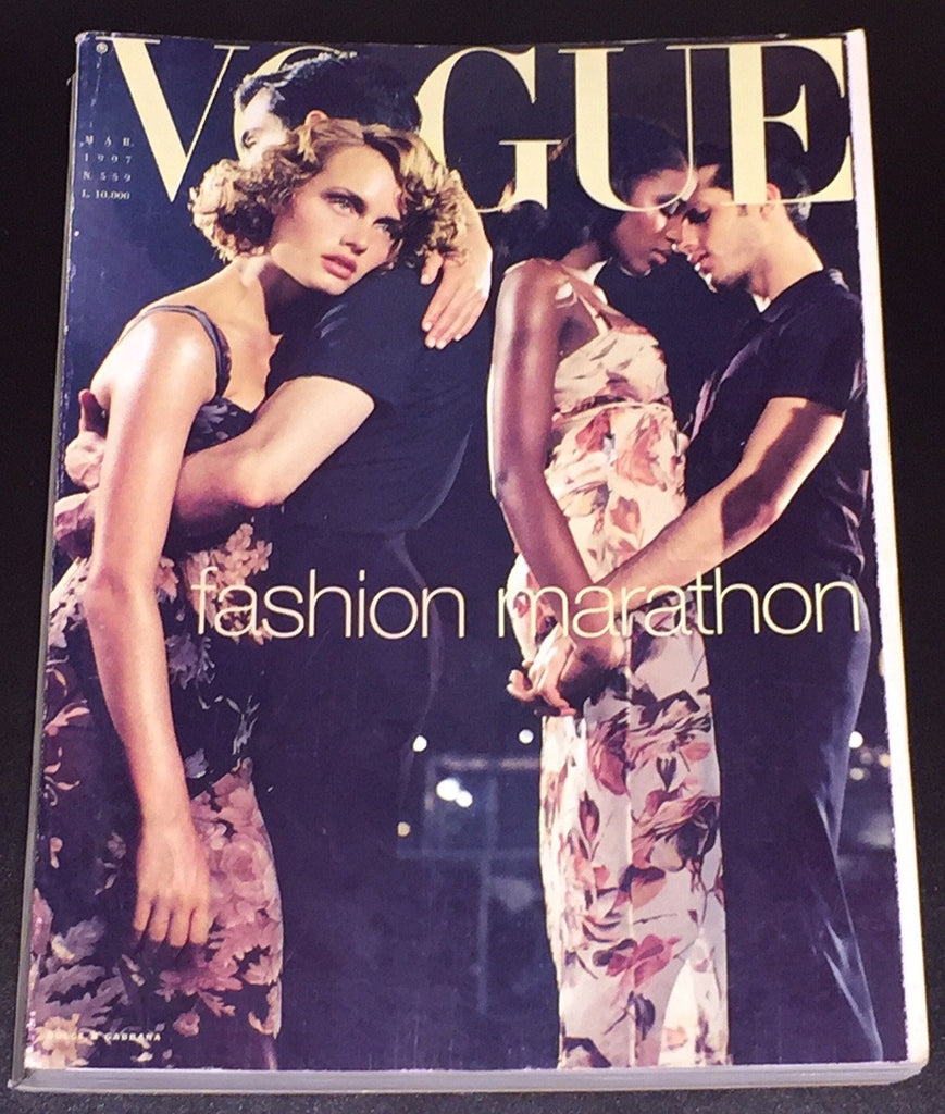 VOGUE Italia Magazine March 1997 NAOMI CAMPBELL Helmut Newton NADJA AUERMANN Paolo Roversi