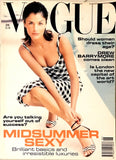 VOGUE UK Magazine 1995 HELENA CHRISTENSEN Claudia Schiffer NAOMI CAMPBELL Drew Barrymore