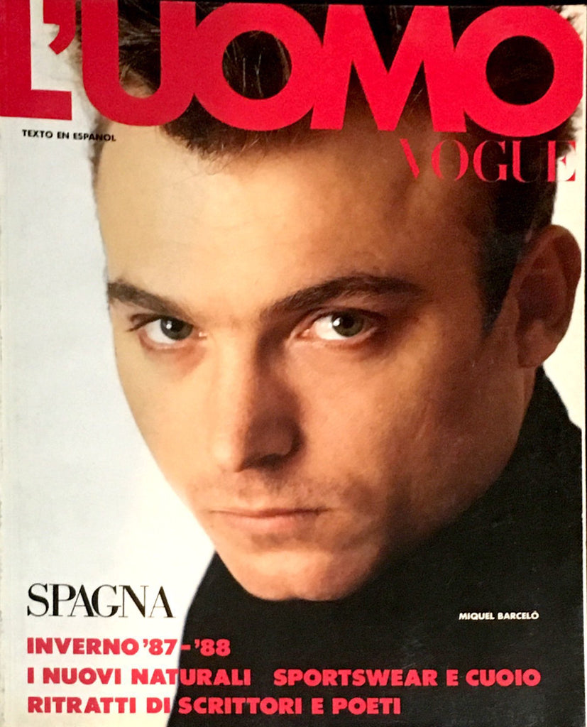 L'UOMO VOGUE Magazine Supplement 1987 MIQUEL BARCELO Jose Mari Manzanares