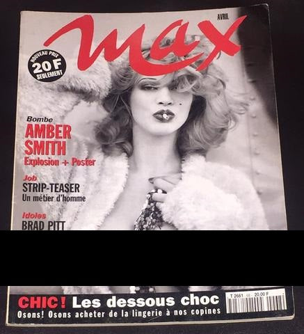 MAX France Magazine 1995 AMBER SMITH Brad Pitt TLC Kader Belardi NADIA FARIS - magazinecult