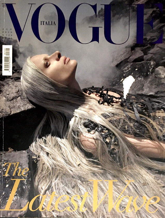 VOGUE Italia Magazine August 2010 KRISTEN MCMENAMY Lindsay Lohan ABBEY LEE KERSHAW