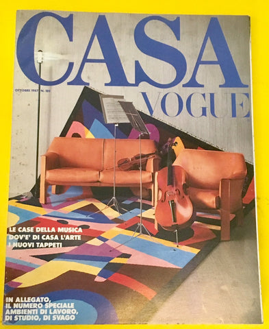 CASA VOGUE Magazine Italy October 1987 Issue #189 Vintage