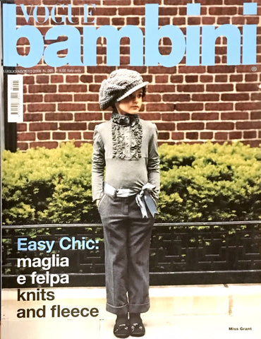 VOGUE BAMBINI Kids Children Enfant Fashion ITALIA Magazine July 2008