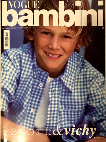 VOGUE BAMBINI Kids Children Enfant Fashion ITALIA Magazine May 2007