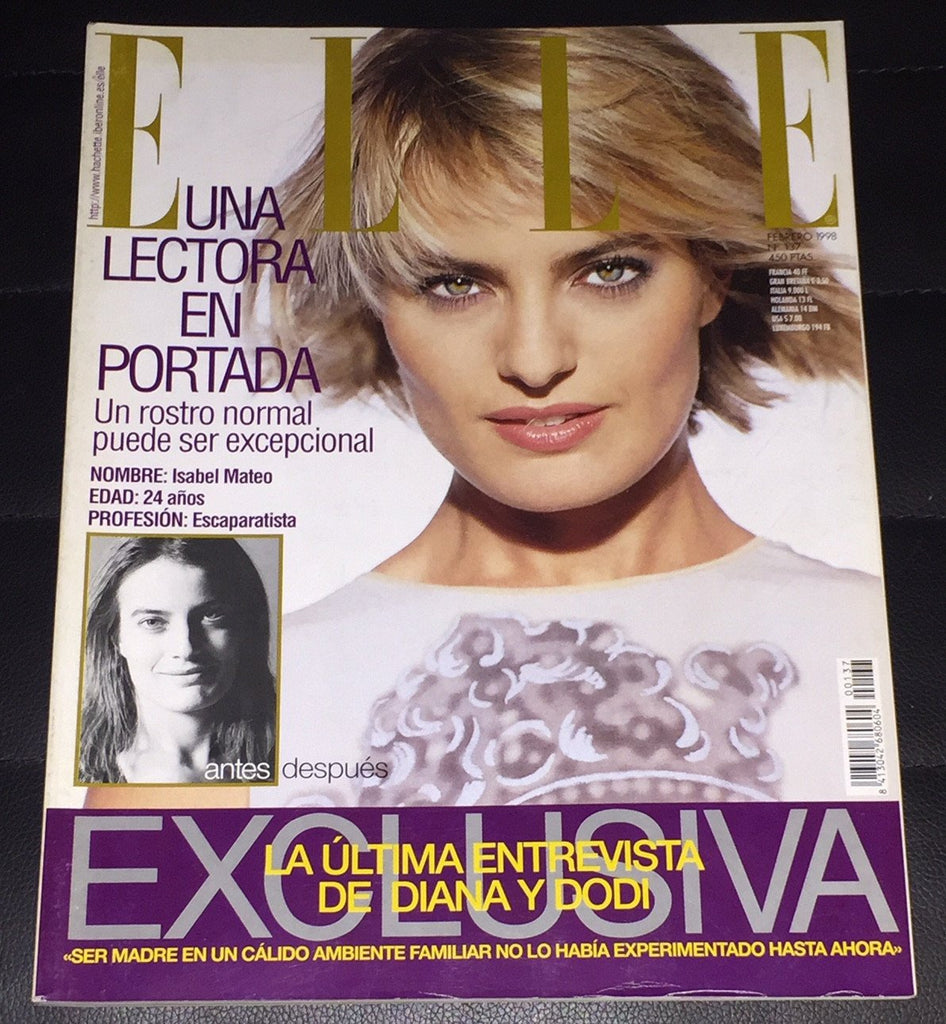 ELLE Spain Magazine February 1998 LAETITIA CASTA Michelle Behennah RACHEL ROBERTS