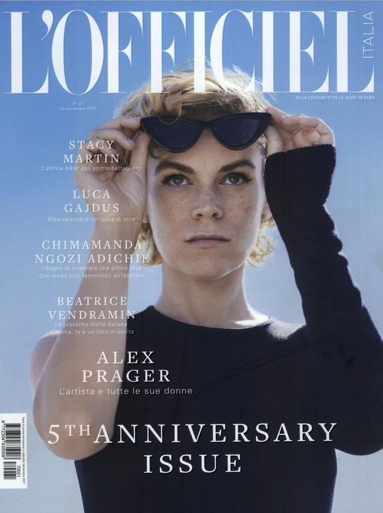 L' OFFICIEL Italia Magazine September 2017 ALEX PRAGER Beatrice Vendramin LUCA GADJUS