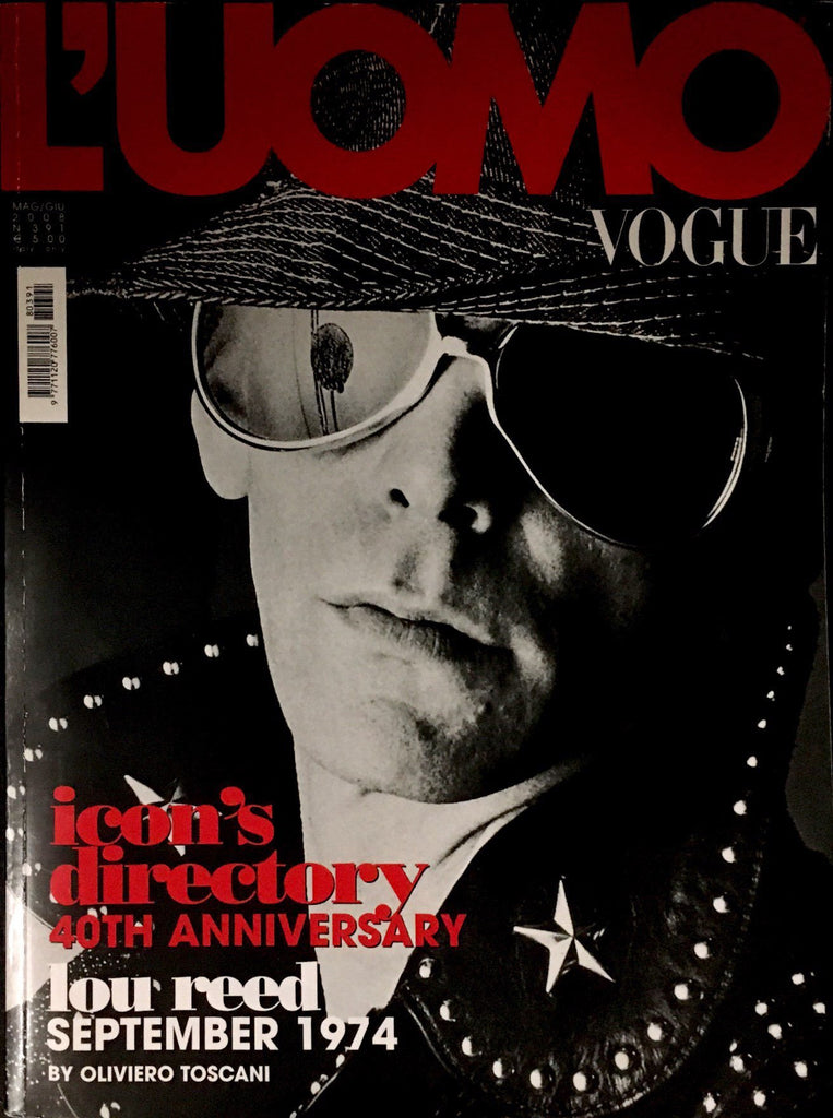 L'UOMO Vogue Magazine May 2008 LOU REED Frank Zappa ALICE COOPER Serge Gainsbourg