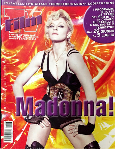 FILM TV Italia Magazine June 2008 MADONNA Anna Falchi