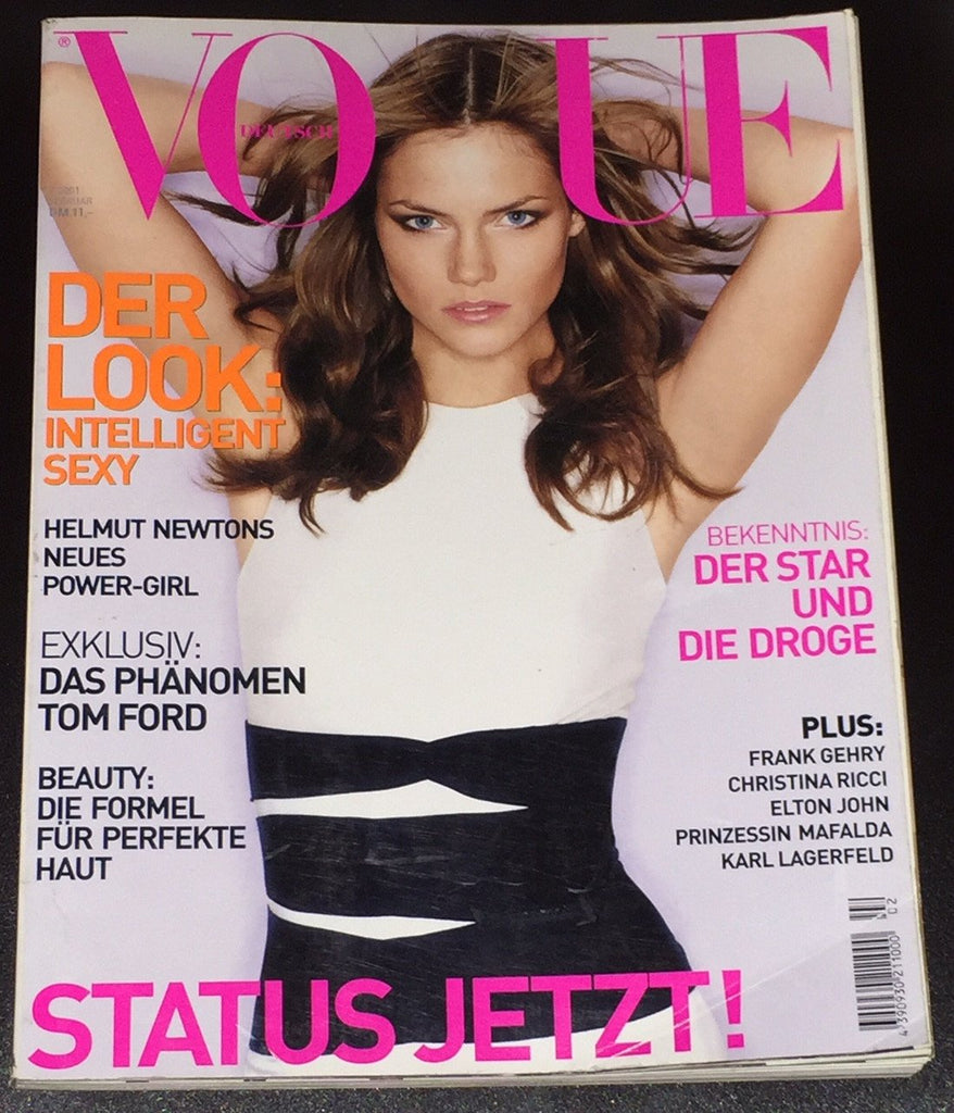 VOGUE Germany Magazine February 2001 MINI ANDEN Helmut Newton NADJA AUERMANN - magazinecult