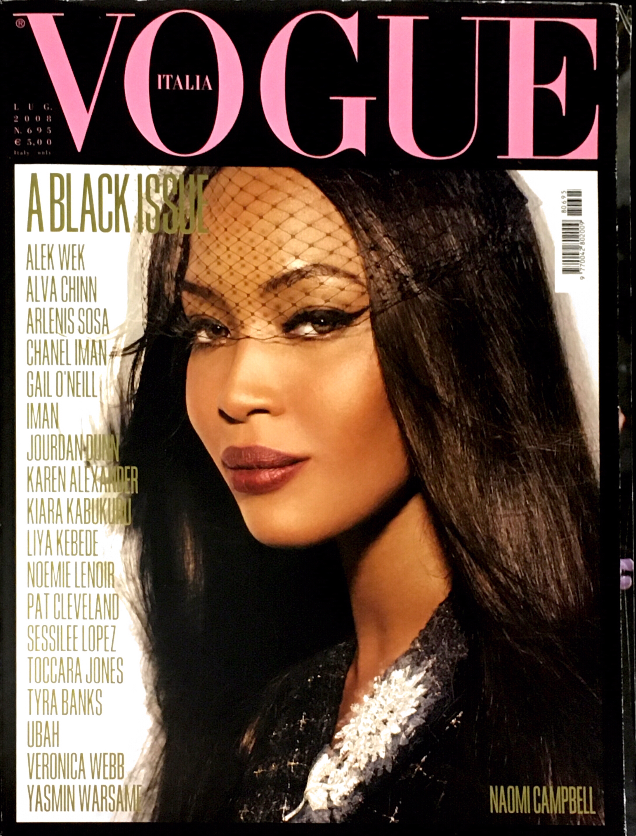 VOGUE Italia Magazine July 2008 The Black Issue NAOMI CAMPBELL Cover FIRST PRINT