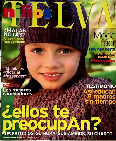 TELVA NINOS October 2007 Kids Children Bambini Enfant SPANISH Fashion Magazine