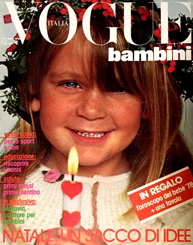 VOGUE ITALIA BAMBINI Kids Children Enfant Fashion RARE Magazine Winter 1978 #17