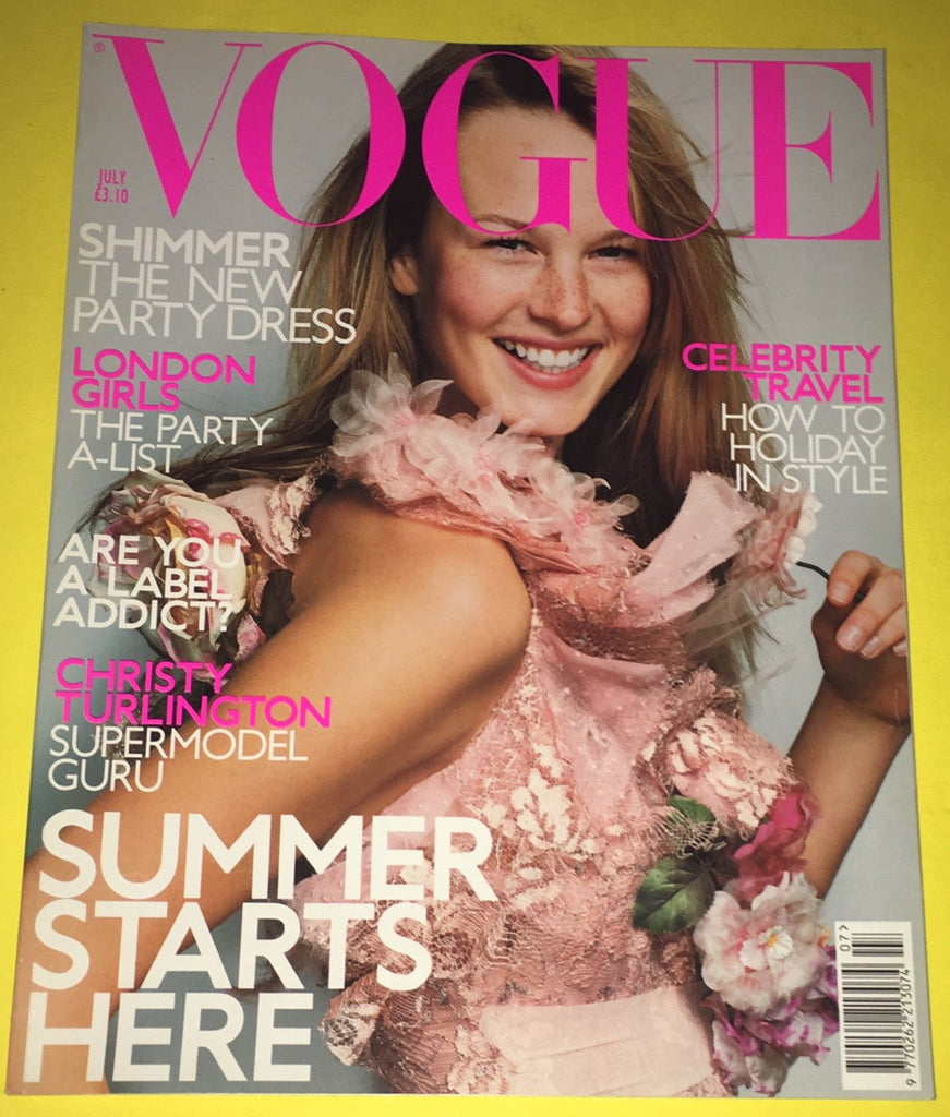 VOGUE UK Magazine July 2000 AMY LEMONS Georgina Greenville CHRISTY TURLINGTON