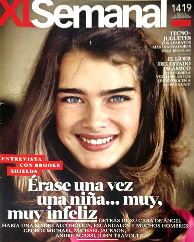 BROOKE SHIELDS XL Semana Spanish Magazine January 2015 JANE BADLER