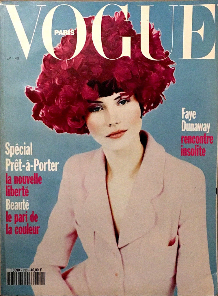 VOGUE Paris Magazine February 1993 JANINE GIDDINGS Nadja Auermann LINDA EVANGELISTA