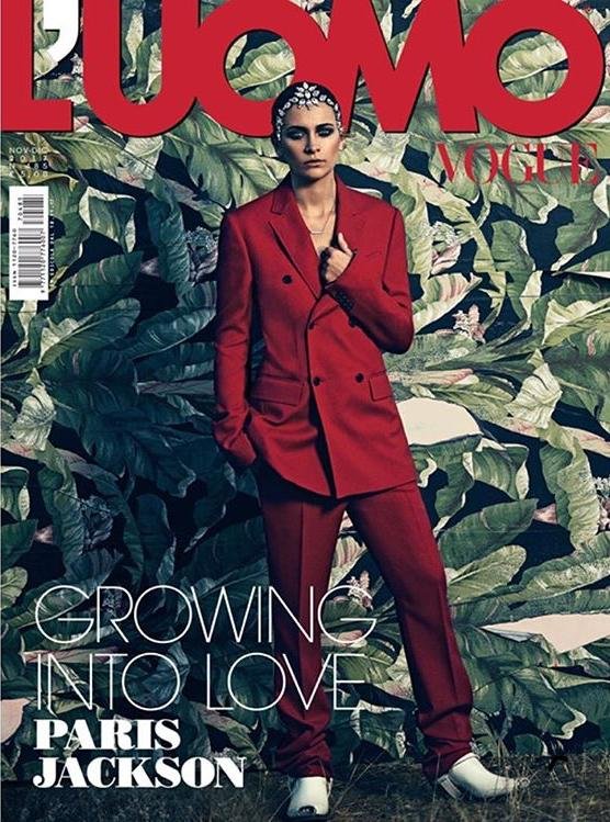 L'UOMO VOGUE Magazine November 2017 PARIS JACKSON Growing into Love