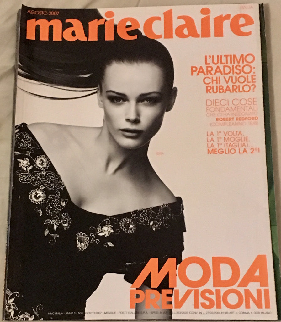 Marie Claire Magazine Italy August 2007 EDITA VILKEVICIUTE David Bellemere