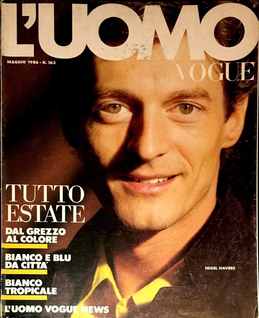 L'UOMO VOGUE Magazine May 1986 NIGEL HAVERS Koto Bolofo CLAUS WICKRATH