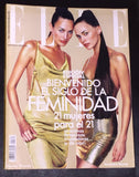 ELLE Spain Magazine January 2000 NIEVES ALVAREZ Veronica Blume MILLA JOVOVIC Naomi Campbell - magazinecult
