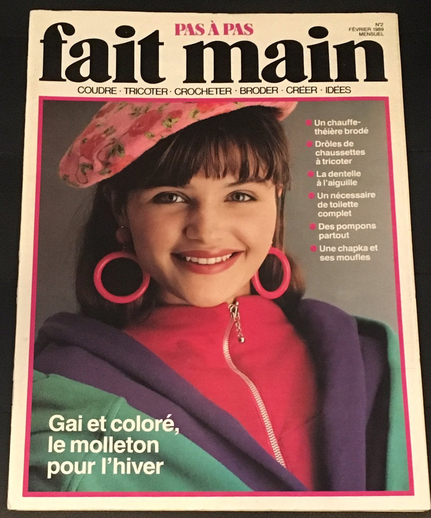 Fait Main Magazine February 1989 HELENA CHRISTENSEN 5 pages edit
